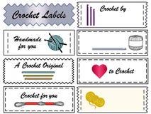 Étiquettes de crochet Photographie stock