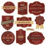 Étiquettes de cru illustration de vecteur