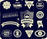 Étiquettes de cru sur le noir Collection 2 Images libres de droits