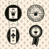 Étiquettes de cru (thème royal) Photographie stock