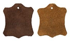 Étiquettes de cuir Images libres de droits