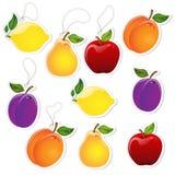 Étiquettes de fruit Photo libre de droits