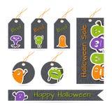 Étiquettes de Halloween Photographie stock