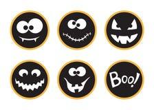 Étiquettes de Halloween réglées Photographie stock libre de droits