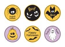 Étiquettes de Halloween réglées Photo stock
