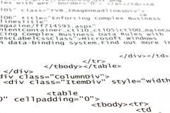 Étiquettes de HTML Photo stock