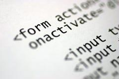 Étiquettes de HTML Image stock