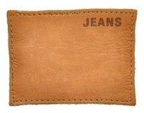 Étiquettes de jeans Photographie stock