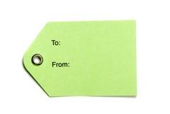 étiquettes de Livre vert Image libre de droits