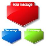 étiquettes de message de vecteur Illustration Libre de Droits