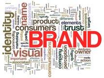 Étiquettes de mot de marque Photo libre de droits