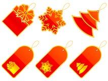 Étiquettes de Noël. Images stock