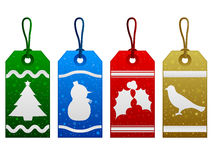 Étiquettes de Noël Photos libres de droits