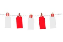 Étiquettes de Noël Photographie stock libre de droits