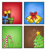Étiquettes de Noël Photos stock
