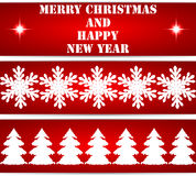 Étiquettes de Noël Images libres de droits