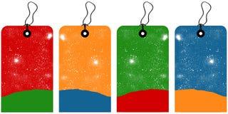 Étiquettes de Noël Image stock