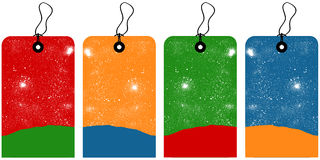 Étiquettes de Noël illustration libre de droits