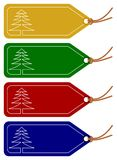 Étiquettes de Noël ou de l'hiver Photos stock