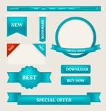Étiquettes de papier, éléments de conception web d'étiquettes Photos libres de droits