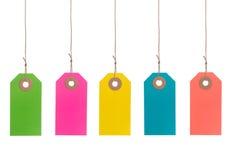 Étiquettes de papier colorées Image libre de droits