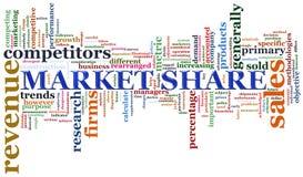 Étiquettes de part de marché Photographie stock libre de droits