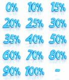 Étiquettes de pour cent de ballon Images libres de droits