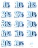 Étiquettes de pour cent de glace Photo libre de droits