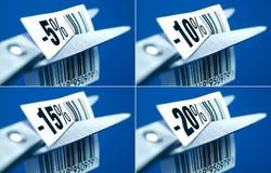 Étiquettes de prix discount Photographie stock libre de droits