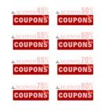 Étiquettes de prix discount Photos libres de droits