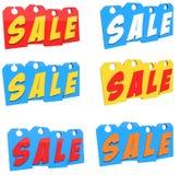 Étiquettes de prix discount Illustration de Vecteur