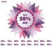 Étiquettes de prix discount de vecteur Image stock