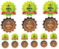 Étiquettes de prix discount de vecteur Photos stock