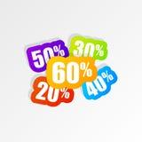 Étiquettes de prix discount Drapeau de vente Conception moderne Vecteur Photos libres de droits