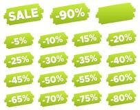 Étiquettes de prix discount - ensemble de label de remise Photos stock