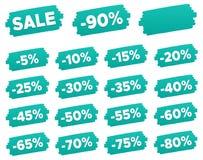 Étiquettes de prix discount - ensemble de label de remise Photo stock