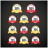 Étiquettes de prix discount Vecteur Images stock