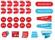 Étiquettes de promotion Images stock