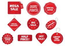 Étiquettes de promotion Image stock
