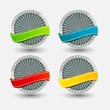 Étiquettes de qualité dans la rétro conception de cru Photographie stock