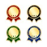 Étiquettes de récompense de ruban les meilleures réglées E E Image stock