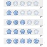 Étiquettes de rang de flocon de neige Photo stock
