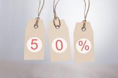 étiquettes de remise de 50% Photos libres de droits