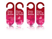 Étiquettes de trappe de Valentine Image libre de droits