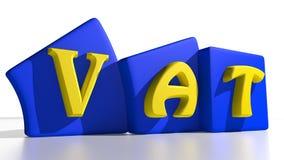 Étiquettes de TVA Photographie stock