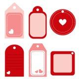 Étiquettes de Valentine - vecteur Image stock
