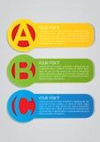 Étiquettes de vecteur d'ABC Images stock