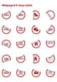 Étiquettes de vecteur de site Web Photographie stock