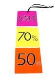 Étiquettes de vente Photographie stock