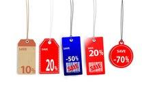 Étiquettes de vente Image stock